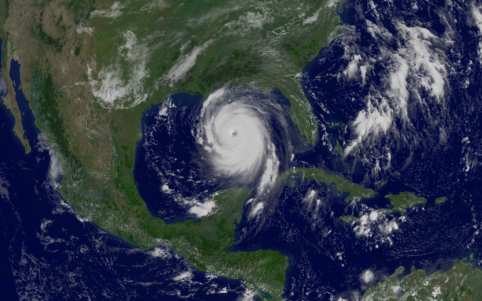 APOD: 2005 August 29 - Hurricane Katrina in the Gulf of Mexico