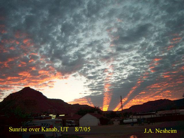 Rayos Crepusculares sobre Utah