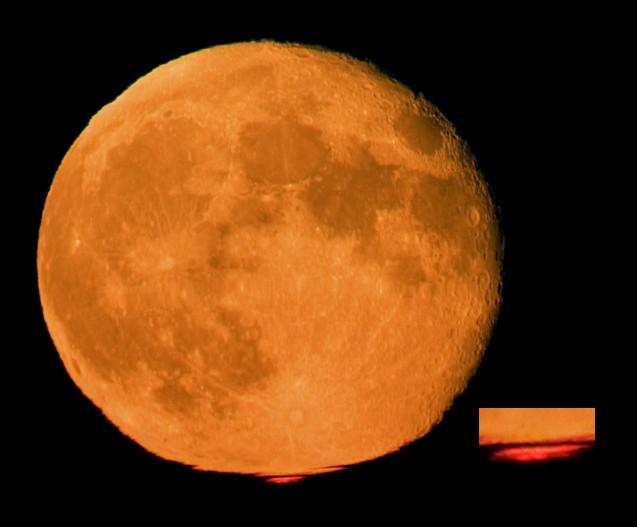 Luna naranja, flash rojo
