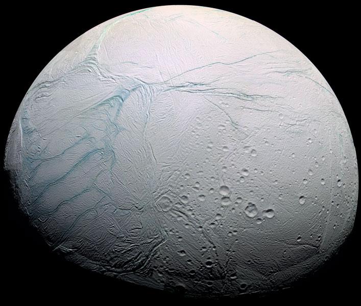 Dulce Tiger Stripes en Saturns Encélado