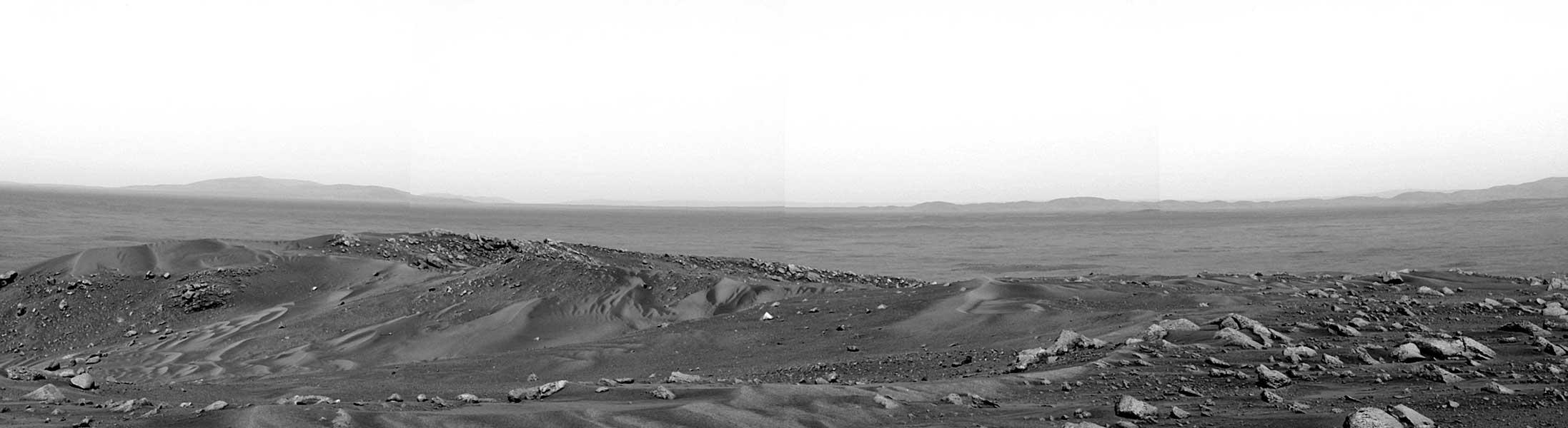 Vista desde el monte Husband en Marte