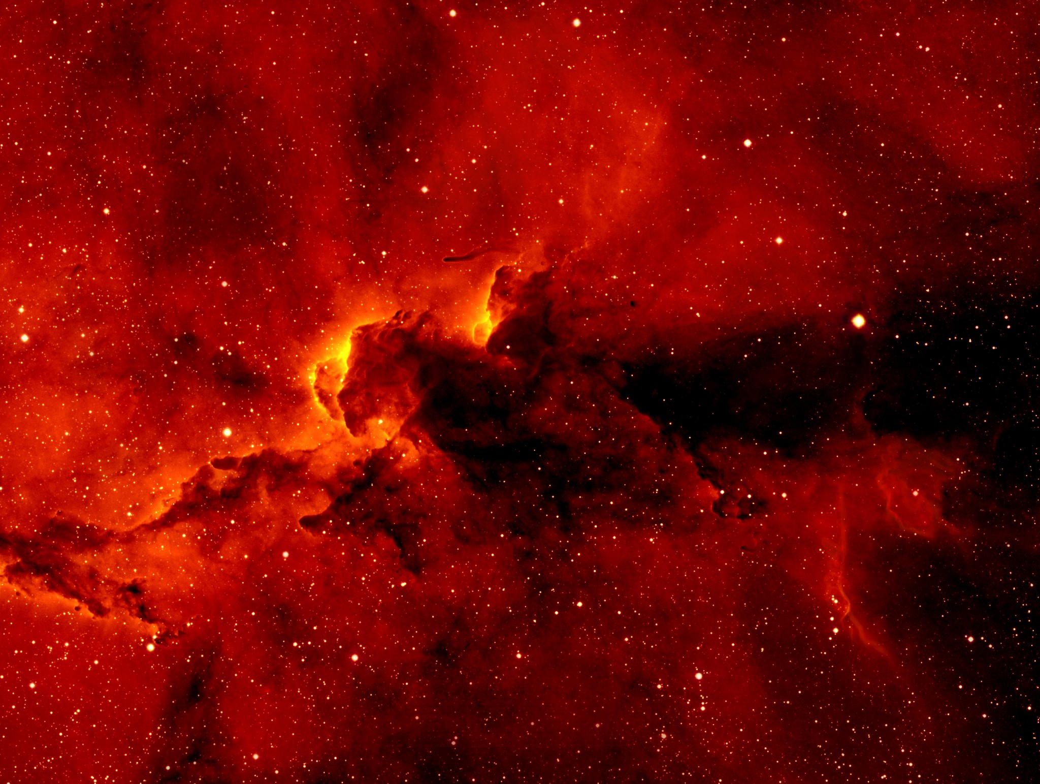 APOD 2005 September 30 IC 1396 H Alpha Close Up