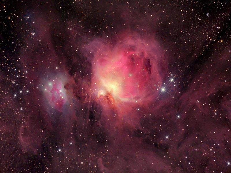 ...обнаружение было затруднено по причине туманностей газа и пыли туманности Ориона.