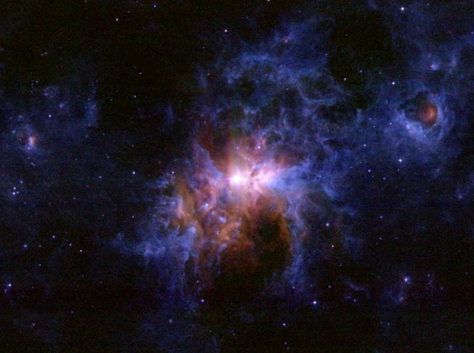 Prašné okolí Eta Carinae