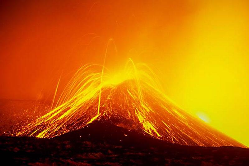 Magma Bolhas de Mt Etna