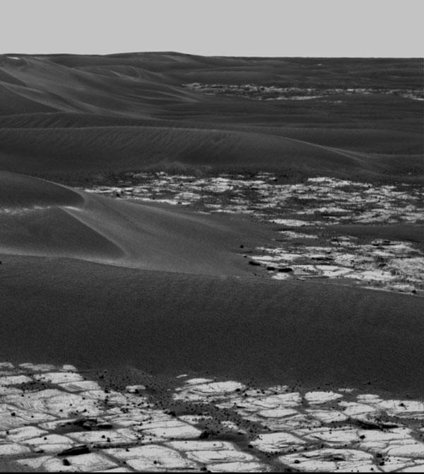 Los montículos de Marte