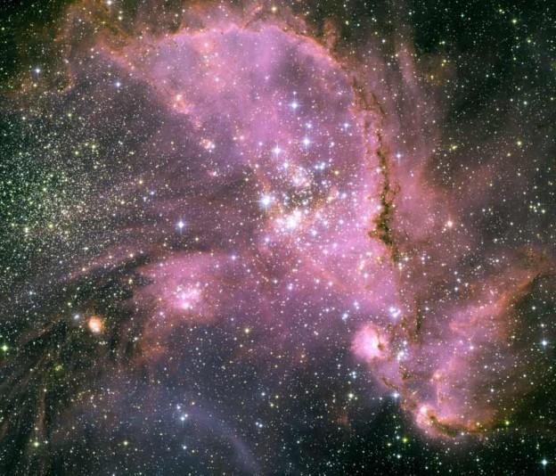 Jóvenes estrellas de NGC 346
