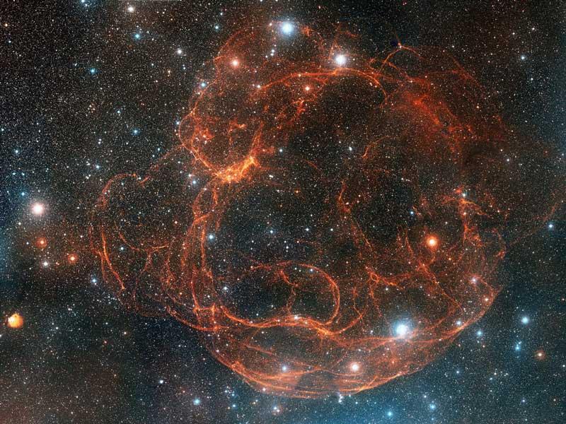 Simeis 147: los restos de una supernova vistos desde Palomar
