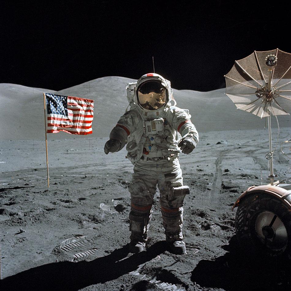 Il (non) sb arco sulla luna. Foto dalla rete.