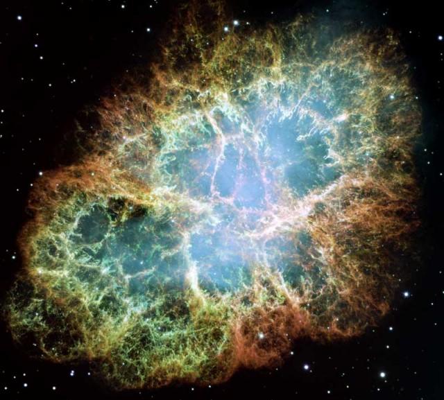 Mosaico de la Nebulosa del Cangrejo Crab desde el HST
