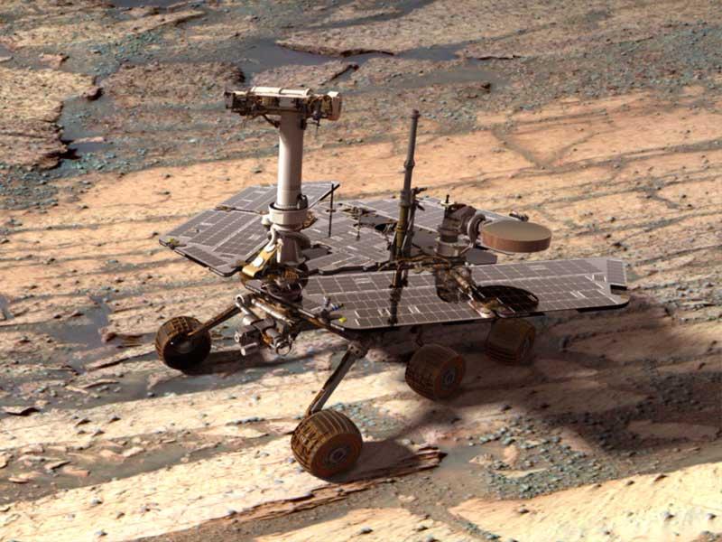 Un Rover Opportunity Digital en Marte