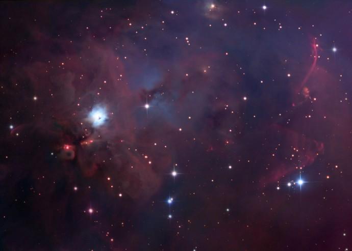 NGC 1999 Sur de Orion