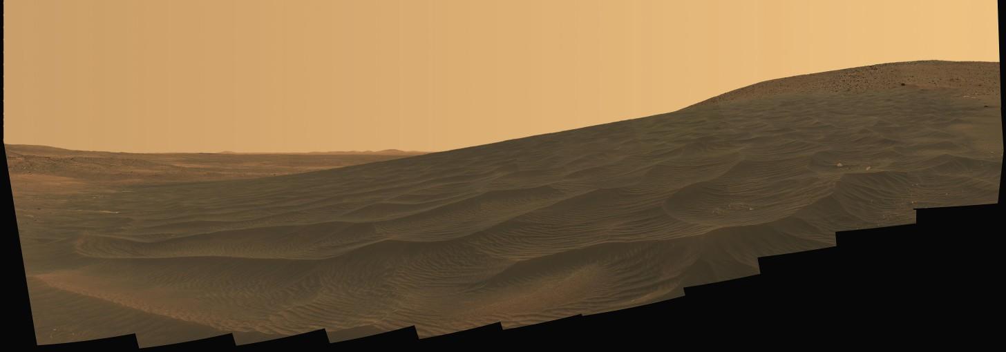 Panorámica de Marte en Año Nuevo