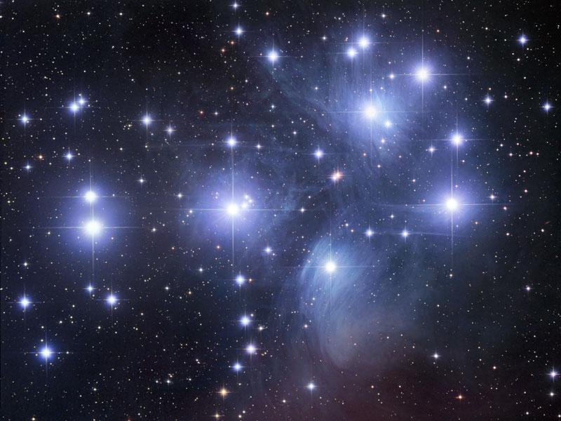 M45: el cúmulo estelar de las Pléyades