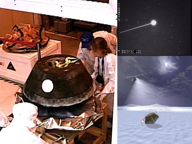 La cápsula Stardust regresa a la Tierra
