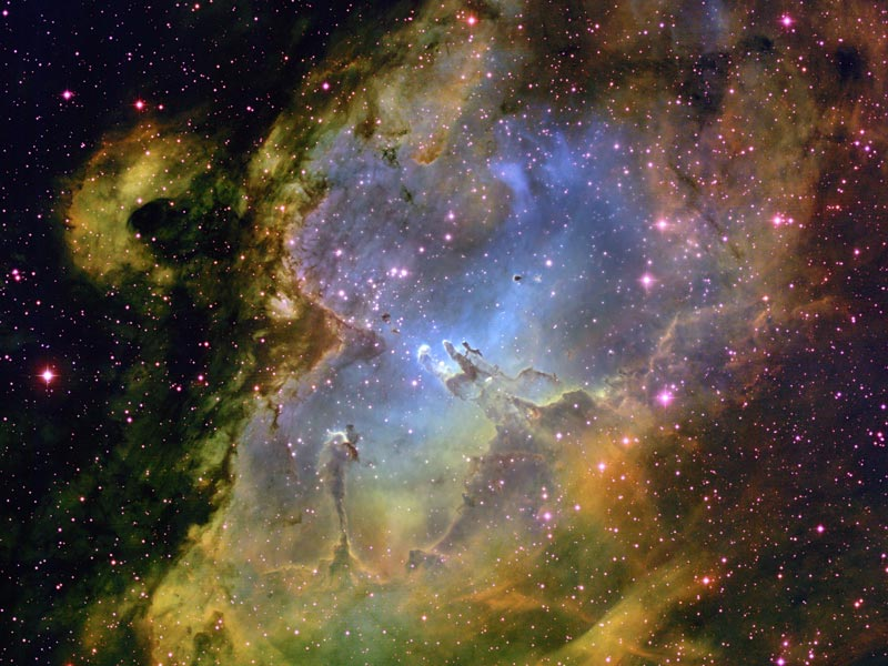 Dentro da Nebulosa da Águia