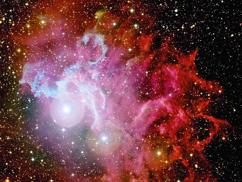 La Nebulosa Estelar Flameante según el CFHT