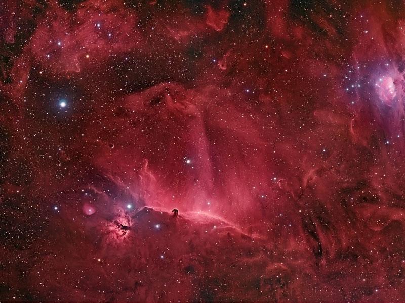 Las espirales que rodean la nebulosa de la Cabeza de Caballo
