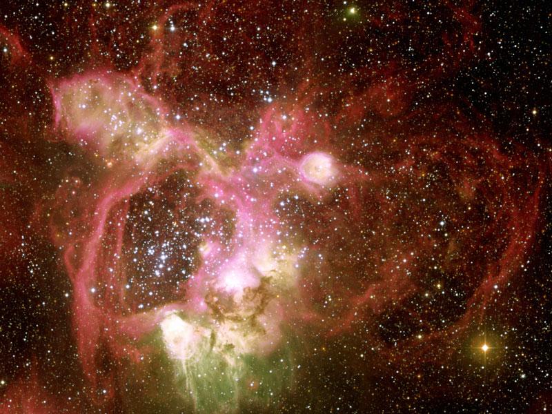 El N44 Nebulosa de emisión