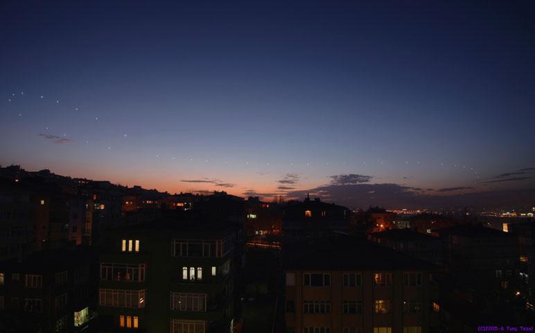 Venus, justo después de Puesta del sol