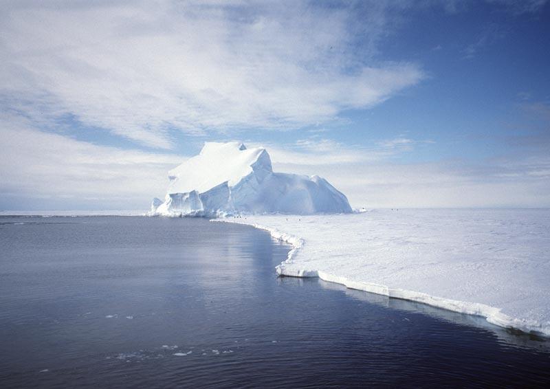 El menguante casquete polar antártico de la Tierra