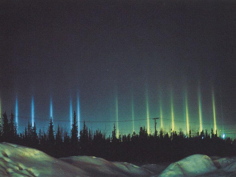 Stunning Light Pillars Phenomenon Sparks Claims Of An Alien