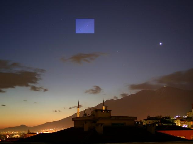 Venus y el cometa Pojmanski