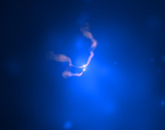 Agujero negro binario en 3C 75