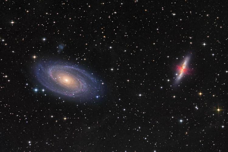 Guerra de las galaxias M81 Galaxia M82 versus
