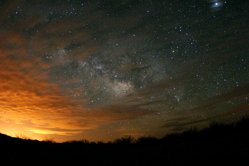 Nubes de estrellas sobre Arizona