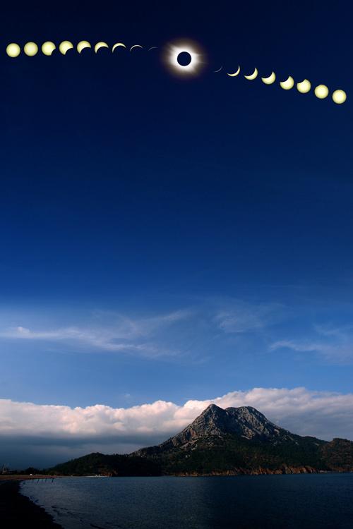Un total de más de Eclipse Solar Turquía