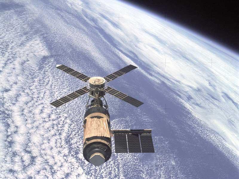 El Skylab sobre la Tierra