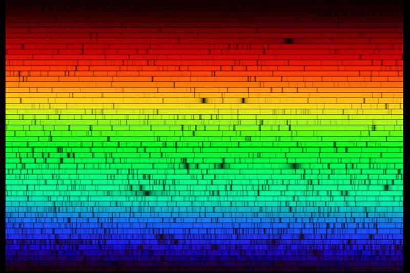 El espectro del Sol