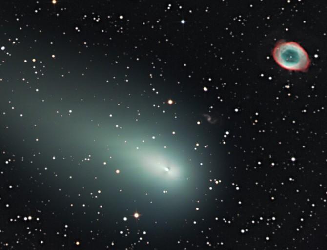 El cometa y la Nebulosa del Anillo: primera parte