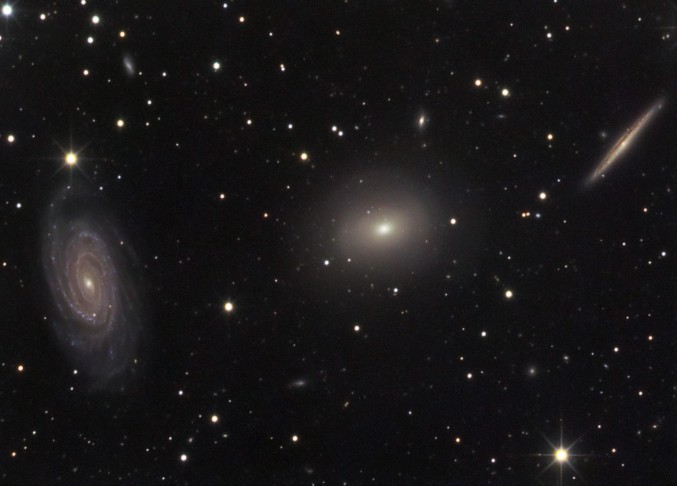 Tres galaxias en el Dragón