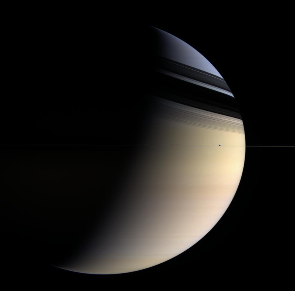 APOD: 2006 May 3 - Saturn in Blue and Gold