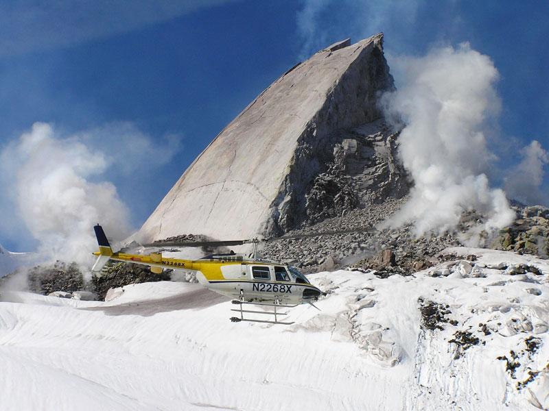 Rock Losa de Crecimiento en el Monte St Helens Volcán