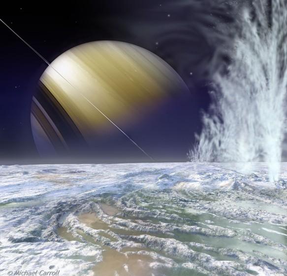 Los volcanes de hielo de Encélado