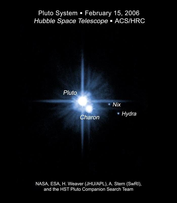 Pluto Moons Nix And Hydra S: APOD: 2006 June 24