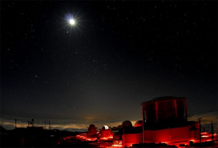 La Luna sobre Haleakala