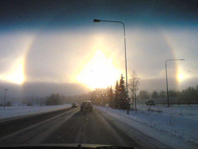 Conducir hacia un halo solar