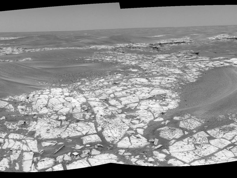La carretera hacia el cráter Victoria en Marte