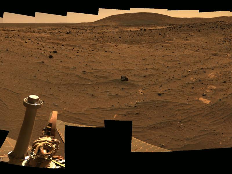 Vista hacia la colina Husband sobre Marte