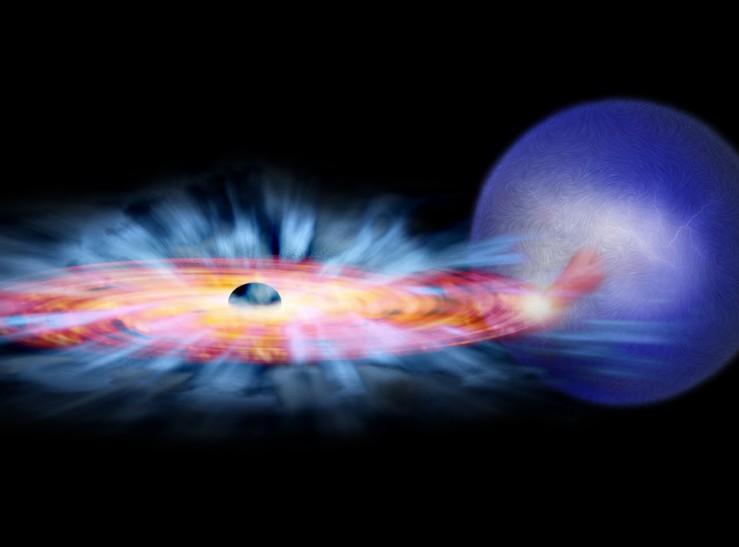El viento de un agujero negro