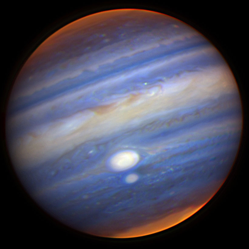 APOD: 2006 July 25 - Jupiters Two Largest Storms Nearly ...