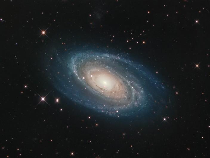 La brillante galaxia M81