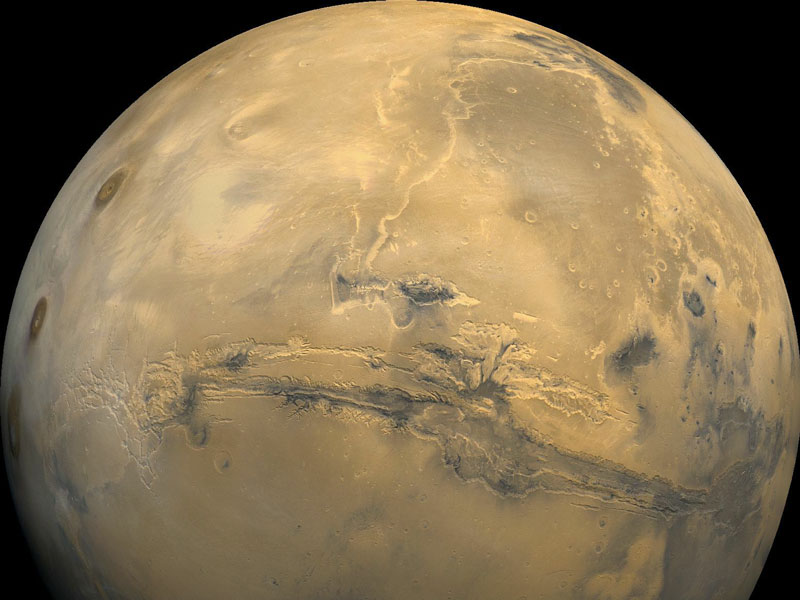 Valles Marineris: El Gran Cañón de Marte