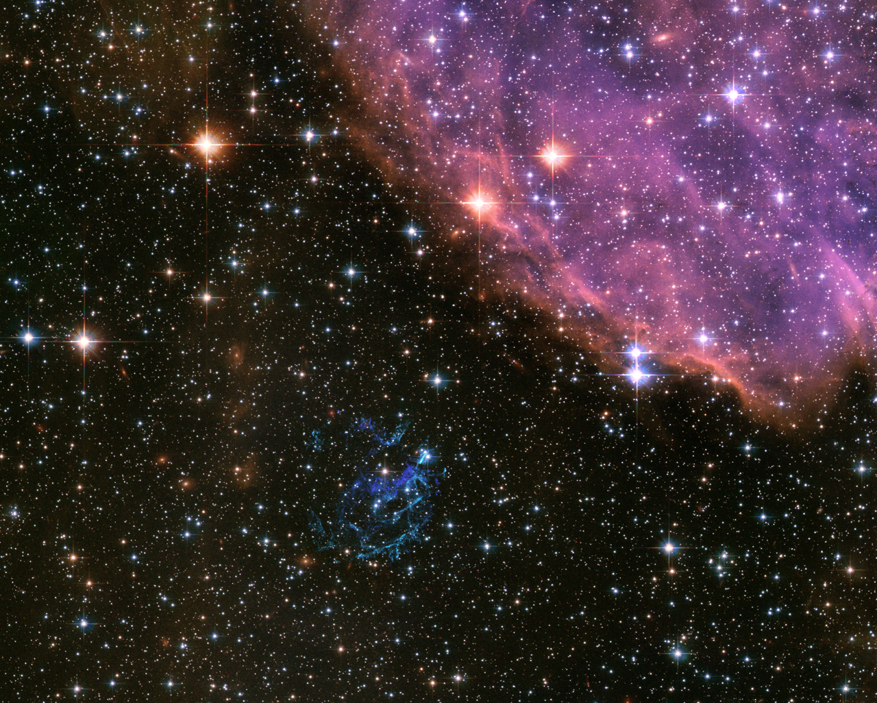 APOD: 2006 August 29 - Supernova Remnant E0102 from Hubble