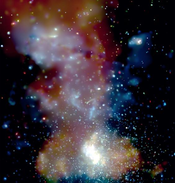 Cúmulos de estrellas en el centro de la galaxia