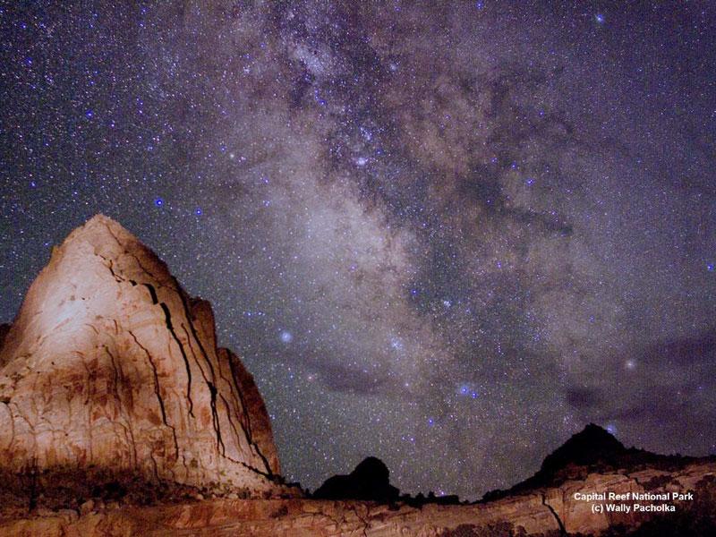 La Vía Láctea sobre Utah